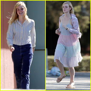 Elle Fanning Goes For Run After Wardrobe Fittings On '20th Century Women' Set