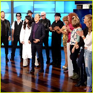Ellen DeGeneres Has the Most Random Squad Ever! (Video)