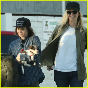 Ellen Page Rescues Adorable Puppy With Samantha Thomas