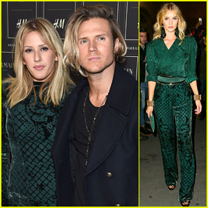 Ellie Goulding & Boyfriend Dougie Poynter Are Too Hot to Handle at Balmain x H&M Show