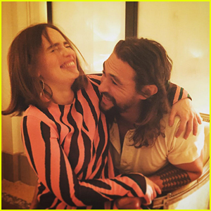 Emilia Clarke & Jason Momoa Had the Best 'Game of Thrones' Reunion in Paris!