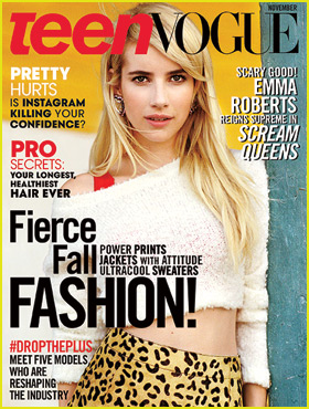 Emma Roberts 'Screams' Gorgeous on 'Teen Vogue' Cover