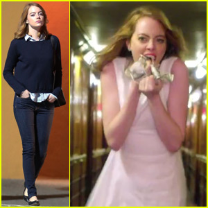 Watch Emma Stone Eat Money in Will Butler's 'Anna' Music Video