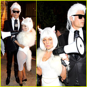 Fergie Is Choupette to Josh Duhamel's Lagerfeld for Halloween!