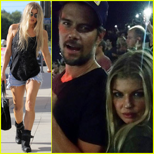Fergie & Josh Duhamel Couple Up for Fun at Foo Fighters Show