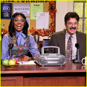 Gabrielle Union & Jimmy Fallon Do the Morning Announcements as Nerdy Principals - Watch Now!