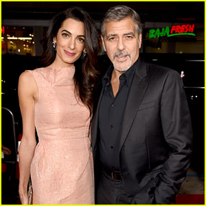 George Clooney Gets Wife Amal's Support at 'Crisis' Premiere!