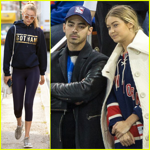 Gigi Hadid & Joe Jonas Couple Up for New York Rangers Game