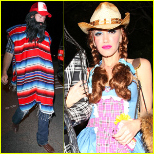 Gwen Stefani & Blake Shelton Stop By The Casamigos Halloween Party
