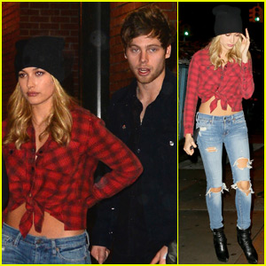 Hailey Baldwin Grabs Dinner With 5 Seconds of Summer's Luke Hemmings in New York City