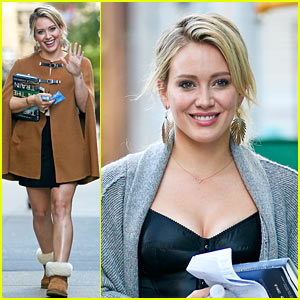 Hilary Duff is All Smiles on the Set of 'Younger'