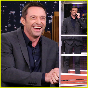 Hugh Jackman Plays Phone Booth with Shaquille O'Neal - Watch Here!