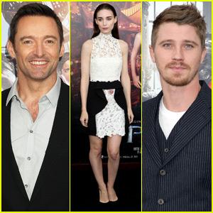 Hugh Jackman & Rooney Mara Premiere 'Pan' in NYC With Garrett Hedlund