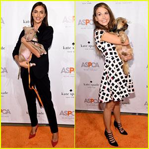 Irina Shayk & Sutton Foster Cuddle Puppies at ASPCA Event