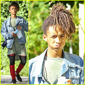 Jaden Smith Downs Boxed Water While Out with Friends