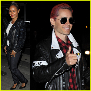 Jared Leto Gives Thumbs Up for Paris Fashion Week Party