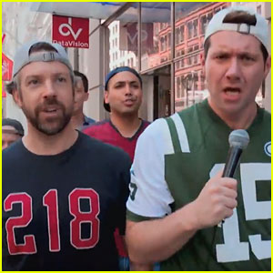 Jason Sudeikis & Billy Eichner Go Tailgating at 'Wicked'