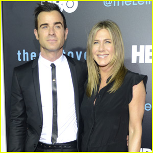 Jennifer Aniston & Justin Theroux Make Their Red Carpet Debut as a Married Couple at Season Two Premiere of 'The Leftovers'
