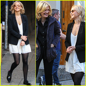Jennifer Lawrence Chats With Diane Sawyer In New York City