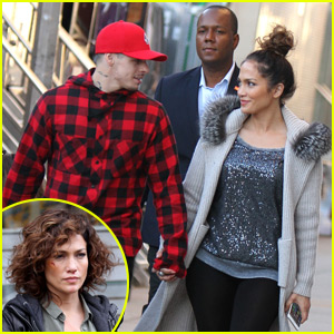 Casper Smart Visits Jennifer Lopez on 'Shades of Blue' Set