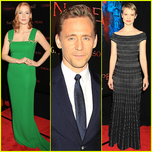 Jessica Chastain & Tom Hiddleston Premiere 'Crimson Peak'