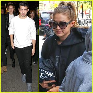 Gigi Hadid Joins Joe & Nick Jonas For SNL After Party