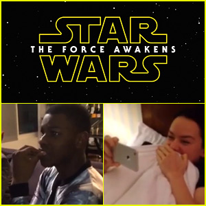 Star Wars' John Boyega & Daisy Ridley Filmed Their Reactions to the Epic New Trailer - Watch Now!