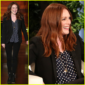 Julianne Moore Can't Control Her Hair During the Summer