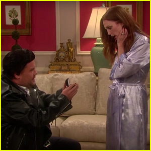 Julianne Moore & John Stamos Perform a Taylor Swift Soap Opera with James Corden - Watch Now!