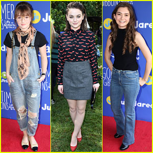 Kaitlyn Dever & Joey King Bring Out Fall Style for Just Jared Jr. & Amazon's Party!