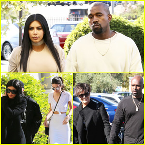 Kanye West Rents Out Movie Theater for Kim Kardashian's Birthday With Entire Family