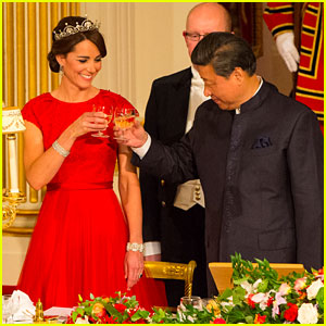 Kate Middleton Is Royal in Red for State Dinner with China!