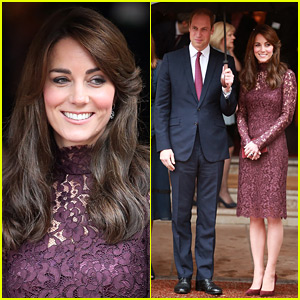 Kate Middleton Stuns in This Lacy Purple Dress