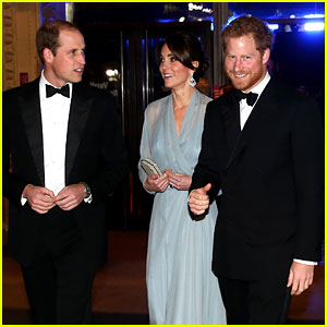 Kate Middleton & Prince William Glam Up for 'Spectre' Royal Premiere with Prince Harry!
