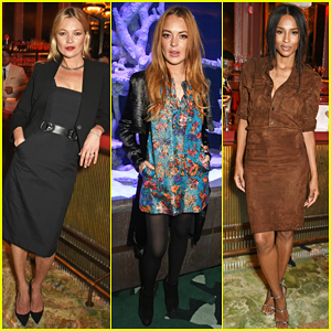 Kate Moss & Lindsay Lohan Help Launch Sexy Fish In Style!
