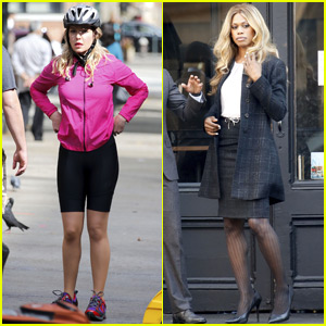 Katherine Heigl & Laverne Cox Get to Work on 'Doubt' in NYC