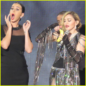 Katy Perry Shares a Banana With Madonna on Stage (Video)