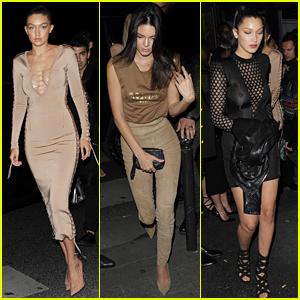 Kendall Jenner & Gigi Hadid Keep It Chic at Balmain After Party