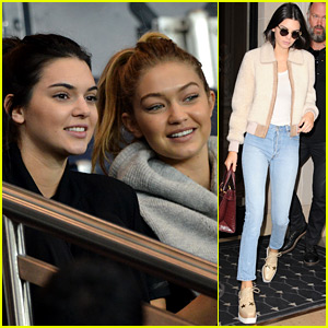 Kendall Jenner & Gigi Hadid Cheer On PSG At Their Soccer Game!