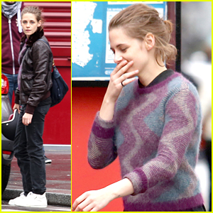 Kristen Stewart Rides A Motorbike Around Paris for 'Personal Shopper'