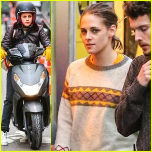 Kristen Stewart Continues to Ride a Vespa Around Paris