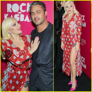 Lady Gaga & Taylor Kinney Couple Up At 'Rock The Kasbah' Premiere