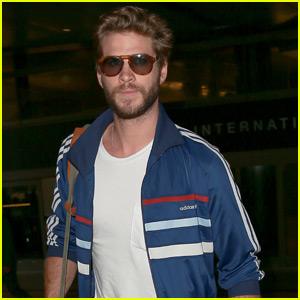 Liam Hemsworth Arrives Back in L.A. for 'Mockingjay' Promo