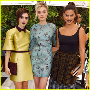 Nikki Reed & Lily Collins Step Out For CFDA & Vogue's Fashion Fund Show