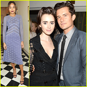 Orlando Bloom & Lily Collins Celebrate the Britannia Awards 2015
