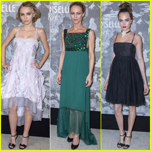Lily-Rose Depp & Mom Vanessa Paradis Step Out for London Exhibition With Cara Delevingne