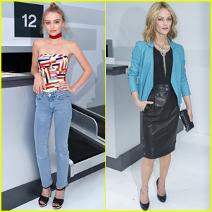 Lily-Rose Depp Pairs Up With Mom Vanessa Paradis for Paris Fashion Show!