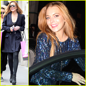 Lindsay Lohan Has Night Out With Friends After Shopping Spree