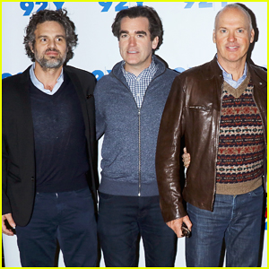 Mark Ruffalo & Michael Keaton Buddy Up At 'Spotlight' Screening!