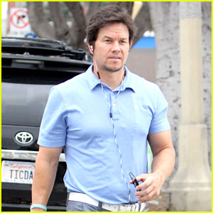 Mark Wahlberg Steps Out for Breakfast in a Tight Shirt & Pants